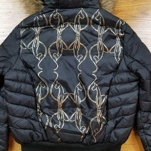 Baby Phat Jackets & Coats - VTG Baby Phat Puffer Black Gold Winter Jacket